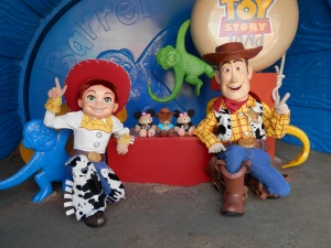 With Woody and Jessie at Hong Kong Disneyland