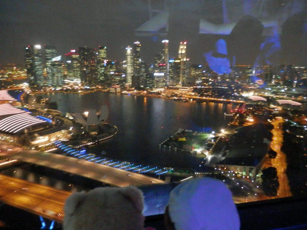 Flying high overSingapore