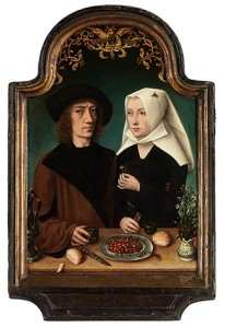 Master of Frankfurt, The Painter and His Wife - eating cherries!
