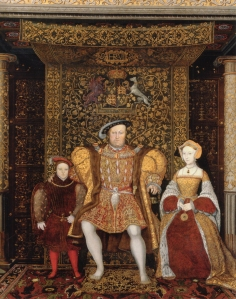 The Family of Henry VIII, by an unknown artist, c 1545, detail