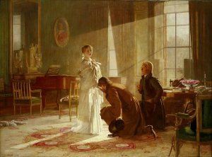 Henry Tanworth Wells - Queen Victoria Receiving News of Her Accession to the Throne