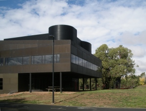"The southern hemisphere ""shadow"" of the Villa Savoye, in Canberra, Australia"