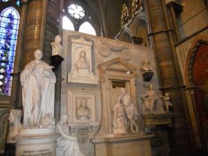 Westminster Abbey, Memorials in Poets' Corner