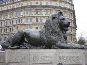 Trafalgar Square, Nelson's Column Lion