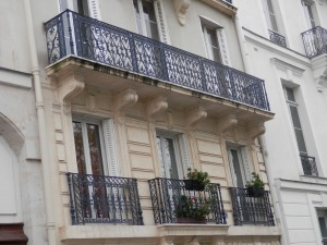 Balconies and ironwork on Quai d'Orleans