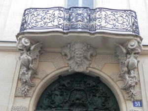 Carved doorway, 51 Rue Saint-Louis-en-l'Ile