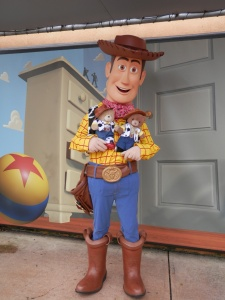 With Woody at Paris Disneyland