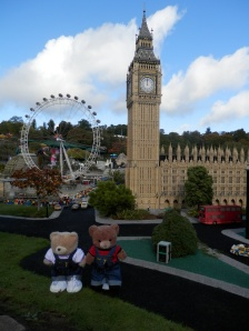 Miniland, London, Big Ben, the Houses of Parliament and London Eye