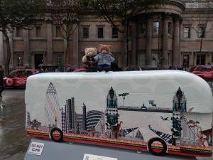 Bus Art, London Skyline Bus by Kristjana Williams