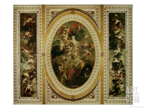 Banqueting House, Ceiling, Rubens The Apotheosis of James I