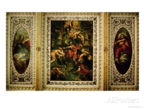 Banqueting House, Ceiling, Rubens The Peaceful Reign of King James I