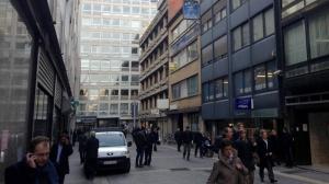Antwerp's main diamond trading street, Hoveniersstraat