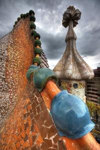 Casa Batllo roof architecture