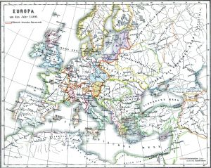 Map of Europe, 1400