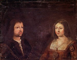 Wedding portrait of Ferdinand and Isabella
