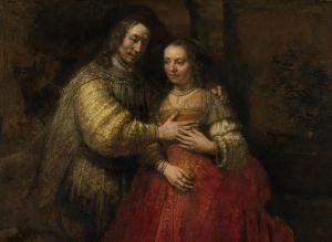 Isaac and Rebecca, Known as 'The Jewish Bride', Rembrandt Harmensz van Rijn, c. 1665 - c. 1669