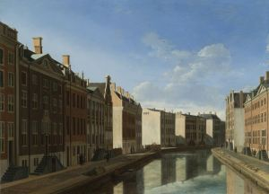 The 'Golden Bend' in the Herengracht, Amsterdam, Seen from the East, Gerrit Adriaensz. Berckheyde, 1671 - 1672