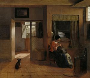A Mother Delousing her Child's Hair, Known as 'A Mother's Duty', Pieter de Hooch, c. 1658 - c. 1660