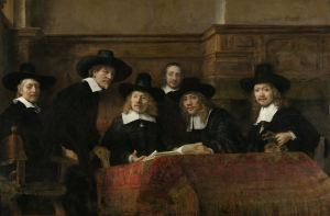 The Wardens of the Amsterdam Drapers' Guild, Known as 'The Syndics', Rembrandt Harmensz van Rijn, 1662