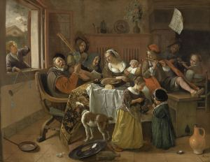 The Merry Family, Jan Havicksz Steen, 1668