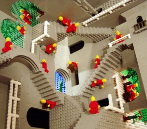 Lego Homage to Escher