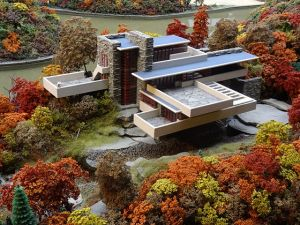 Fallingwater miniature model at Carnegie Science Center