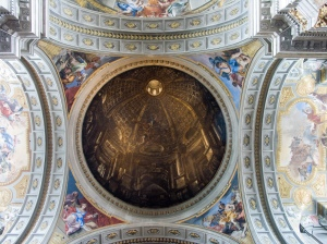 Cupola of St Ignatius of Loyola church in Rome