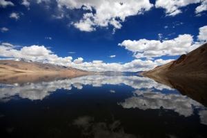 Lake Reflections, Tso Moriri Lake, India