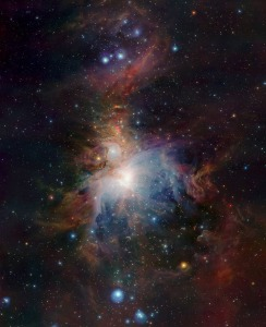 VISTA's infrared view of the Orion Nebula, 1500 light years