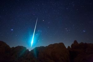 Geminid Meteor, Mojave Desert, US
