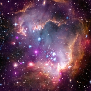 Young stars in the Small Magellanic Cloud (SMC), one of the closest galaxies to our Milky Way. NGC 602 180,000 light years