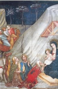 ADORATION OF THE MAGI: Scene of the Nativity