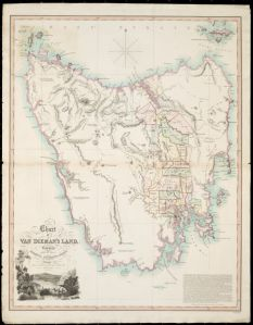 Chart of Van Dieman's Land, by Joseph Cross, London, 1826 (National Library of Australia T 359)