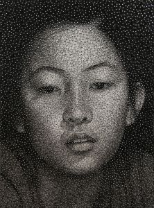 Portraits Made with a Single Sewing Thread Wrapped through Nails by Kumi Yamashita. incredible.