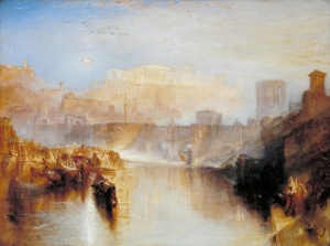 J. M. W. Turner, Ancient Rome – Agrippina Landing With the Ashes of Germanicus (exhibited 1839)