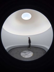 Within without 2010. Skyspace: lighting installation, concrete and basalt stupa, water, earth, landscaping
