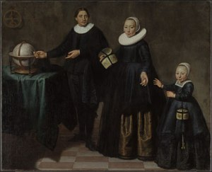 Portrait of Abel Tasman, His Wife and Daughter c.1637