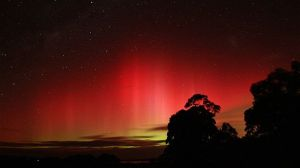The Aurora Australis on the south coast of Western Australia