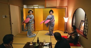 A maiko hosted dinner