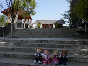 Akagi Shrine complex, designed by Kengo Kuma