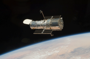 The Hubble Space Telescope in orbit around the Earth. Credit: NASA