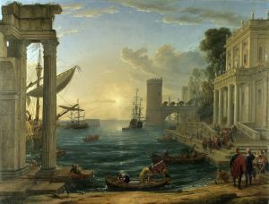 Claude Lorrain, Seaport with the Embarkation of the Queen of Sheba (1648)