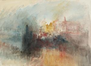 J. M. W. Turner, Fire at the Grand Storehouse of the Tower of London (1841)