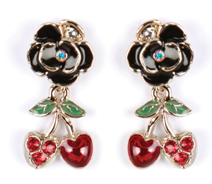 Anna Sui glam cherry earrings