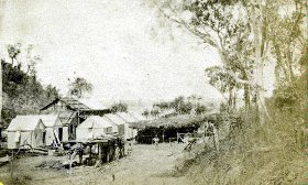 Goyder Camp at Fort Hill