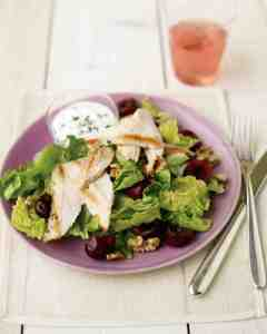 Seared Chicken Salad with Cherries and Goat Cheese