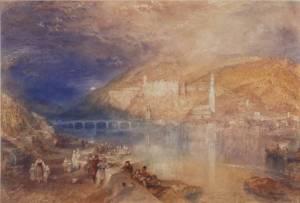 J. M. W. Turner, Heidelberg: Sunset circa 1840