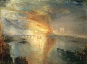 J. M. W. Turner, The Burning of the Houses of Lords and Commons, October 16, 1834 (exhibited 1835)