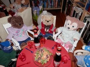 Sweet potato and cherry salad