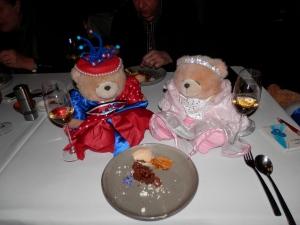 "Chocolate, honeycomb, popcorn, caramel desert with 2011 Hollick ""The Nectar"" SA"